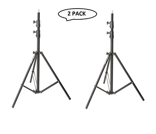 Impact Air-Cushioned Heavy Duty Light Stand - Black, 9.5' (2.9m) (2 Pack) ()