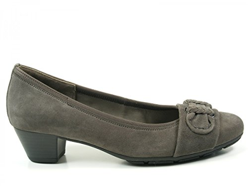 Gabor 35-401 Zapatos de tacón de material cuero mujer Best Fitting Grau