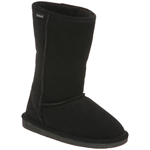 BEARPAW Kids Girls' Emma Tall (Little Big Kid), Black, 5 M US