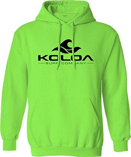 Koloa Surf Wave Logo Hoodies - Hooded Sweatshirt, S-Neon Green/b