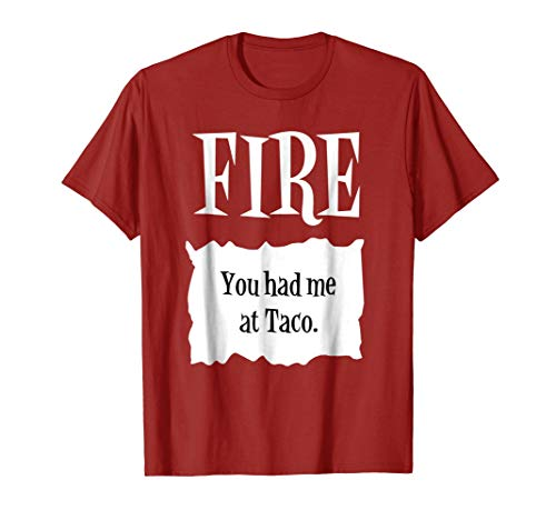 FIRE - Hot Packet Halloween Taco Costume T-Shirt -