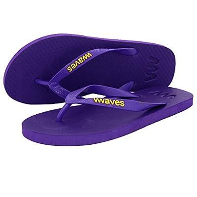 Waves 100% Natural Rubber Flip Flops for Men and Women Unisex Regular Fit Sandals Slippers - Essentials