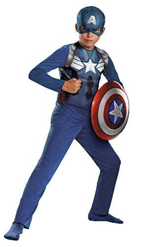 Boy's Captain America Theme Outfit Fancy Dress Child Halloween Costume, Child S (4-6) -