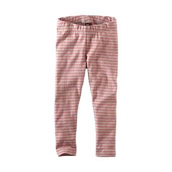 Tea Collection Little Girls' Skinny Stripe Leggings, Pink Lemonade, 12