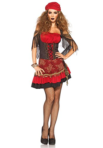 Leg Avenue Women's Mystic Vixen Costume, Burgundy/Black, Small/Medium