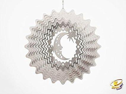 Spin Art funda LUNA Y Estrellas Wind Spinner: Amazon.es: Jardín