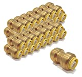 | (Pack of 100) 1/2 inch x 1/2 inch Coupling Connect Fittings, Lead Free Brass