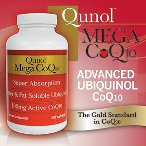 Qunol gélules de CoQ10 Mega, 100 mg, 120 Count