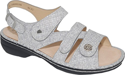 Finn Comfort Women's Gomera Ankle-Strap Sandal Grey outlet genuine sale top quality finishline online clearance fashionable cheap looking for HL9li