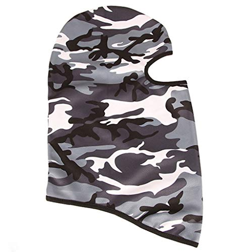 Iusun Balaclava Camouflage Mask Windproof Hat Cold Weather Full Face Mask Motorcycle Neck Warmer for Running Cycling Skiing Outdoor Sports Men Women Unisex (A)