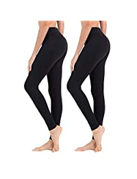 8e06614bb0 Syrinx High Waisted Leggings for Women – Regular/Plus Women's Ultra Soft  Solid Leggings