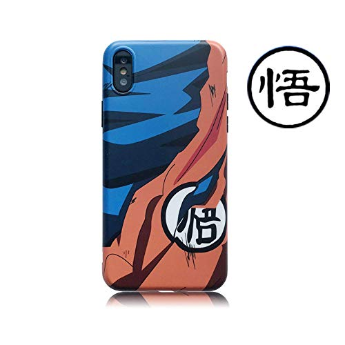 Abbery Dragon Ball Super Son Goku Soft Silicone Phone Cover Case for iPhone Xs Max/XR/XS/X for iPhone 6/6s/7/7 Plus/8/8 Plus for Man Boy (for iPhone 7 Plus or 8 Plus)