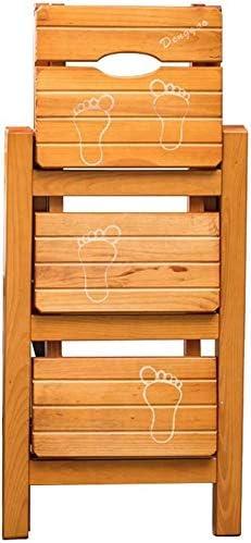 LJBXDCZ NJ Taburete de Bar- 3 Plegable Taburete de Paso de Escalera Silla de Madera Maciza de Pino Suba escaleras de Tijera heces Silla de Uso múltiple Escalas Estantes de Cocina/Oficina/Biblioteca: Amazon.es: