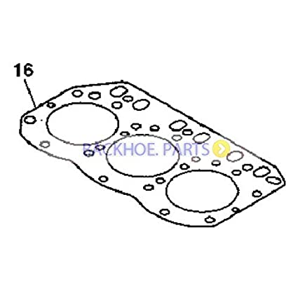 Amazon.com: Cylinder Head Gasket M806811 for John Deere 27D ... on
