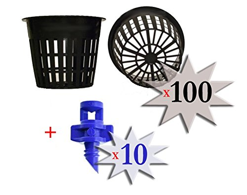 41HaoYjqKnL 100 pack - 3 inch Round HEAVY DUTY Net Cups Pots WIDE LIP Design - Orchids • Aquaponics • Aquaculture • Hydroponics • WIDE Mouth Mason Jars • Slotted Mesh + FREE Micro Sprayers!! by Cz Garden Supply