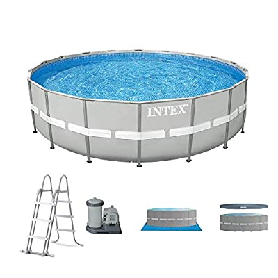 """Intex 20' x 48"""" Ultra Frame Above Ground Swimming Pool Set w/Pump and Ladder"""