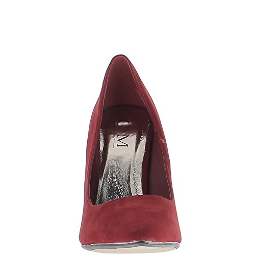 ChaussMoi Rojo con Tacones de Aguja 11,5 cm Consejos Aspecto Agudo Ante