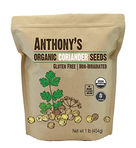 Anthony's Organic Coriander Seeds, 1lb, Gluten Free, Non GMO, Non Irradiated, Keto Friendly (Cilantro Seeds Organic)
