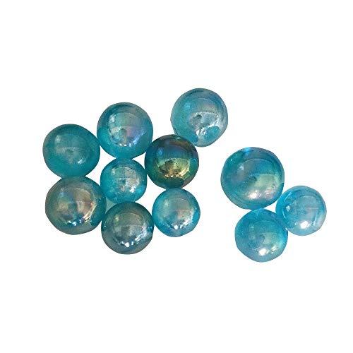 10pcs 2-3cm Rainbow Aura Quartz Sphere Gemstone Crystal Mineral (Blue) by lgw crystal