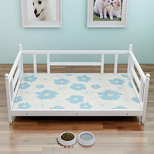 QAZW Pet Bed House Cushion Nestshelter Accommodation Chalet Kennel Large Demolition Washable Iron Bed Solid Wood Pet Mat