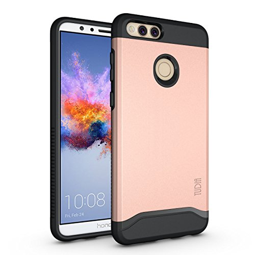 Honor 7X / Mate SE Case, TUDIA Slim-Fit Heavy Duty [Merge] Extreme Protection/Rugged but Slim Dual Layer Case for Huawei Honor 7X / Mate SE (Rose Gold)