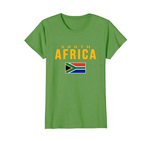 Womens South Africa Flag T-shirt South African . XL - Women Africa South