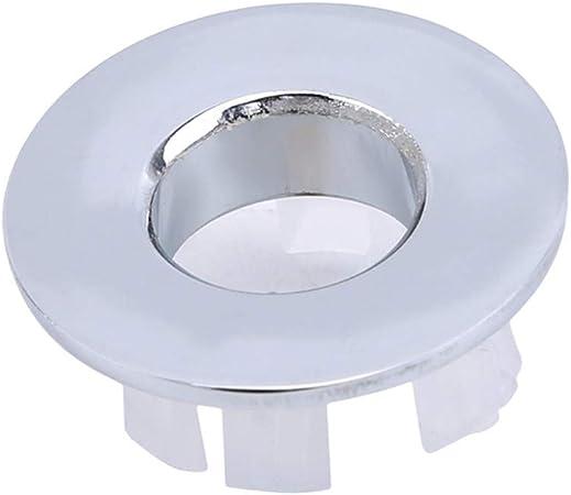 cubierta de desag/üe de fregadero redondo lavabo Anillo de desag/üe para fregadero de cocina tapa de agujero de anillo cromada ba/ño