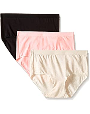 Hanes Women's 3 Pack Ultiamte X-Temp Brief Panty 40XT