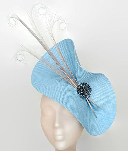 Image Unavailable. Image not available for. Colour  Pale blue fascinator ... 7d5b8bafed0