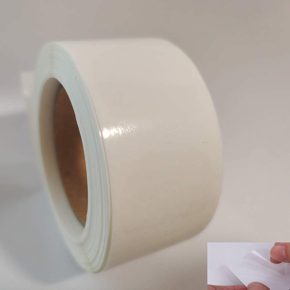 Round Clear Transparent Stickers 500 Labels A, 1inch
