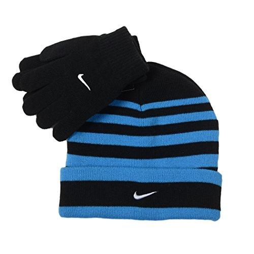 Nike Snow Stripe Set (Little Kids/Big Kids) Black/Blue Glow