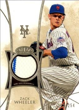 2014 Topps Tier One Relics #TOR-ZW Zack Wheeler Game Worn Jersey Baseball Card - Only 254 made!