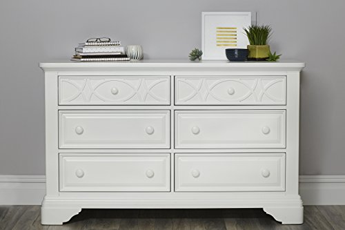Baby Cache Haven Hill 6 Drawer Double Dresser White Lace