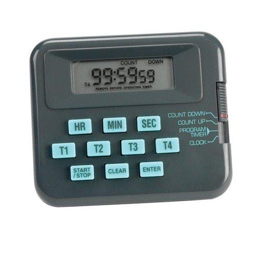 Heathrow Scientific HS24490D, Lab Alert Pocket Timer/Stopwatch/Clock, Pack of 10 pcs