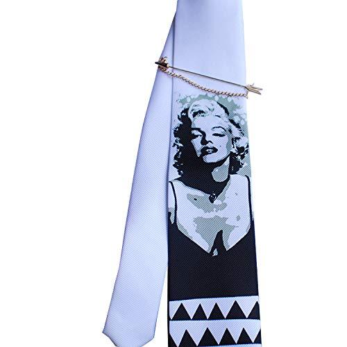 (Merlin Marilyn Monroe Fashion Design Tie Handmade Ties Silk Formal Suit Necktie Neckties Woven Classic Stripe)