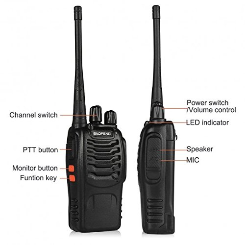 BaoFeng BF-888S Walkie Talkie 2pcs in One Box with Rechargeable Battery Headphone Wall Charger Long Range 16 Channels Two Way Radio (2pcs radios) by BaoFeng (Image #2)