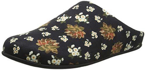 Chrissie Floral black 001 Dark Fitflop Pantofole Nero Donna w6Pwd7q