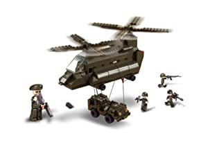 Sluban Military Helicopter + Jeep 370 Pieces Compatible with other Construction Systems