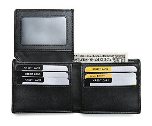 Rfid Blocking Stylish Genuine Leather Wallet for Men - Credit Card Protector - Rfid Blocking Wallet