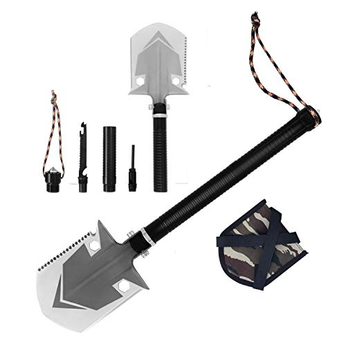 ROSE KULI Folding Shovel Multitool - Military Compact Snow Shovel for Car Camping Backpacking Gardening Outdoor Activities by ROSE KULI (Image #1)