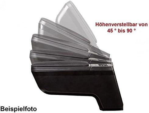 Fussmatten-Deluxe Mittelarmlehne Auto Armlehne Stoff schwarz Staufach M/ünzfach Ablage Stauraum Mittelkonsole