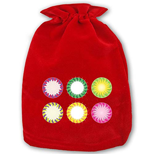 Very Merry Christmas Party Button - Merry Christmas Gift Bag from Santa Gift Socks Sack for Kids Presents Xmas Bag for Self Personalization Burst Button Special Flower