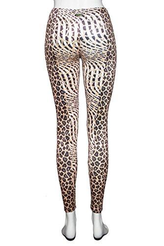 Trouser Woman Donna Fantasia k Maculato Leggings Ciniglia Pantalone Marrone F 0343q qx8wY0U