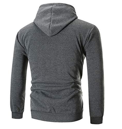 Hontiano Mens Casual Sweatshirt Zipper Cardigan Hooded Hooded Sweatshirt Zipper Jacket