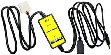 約3.5mmジャック入力 オーディオ AUX補助ケーブル USBアダプター MP3プレーヤー マツダ3 6適用