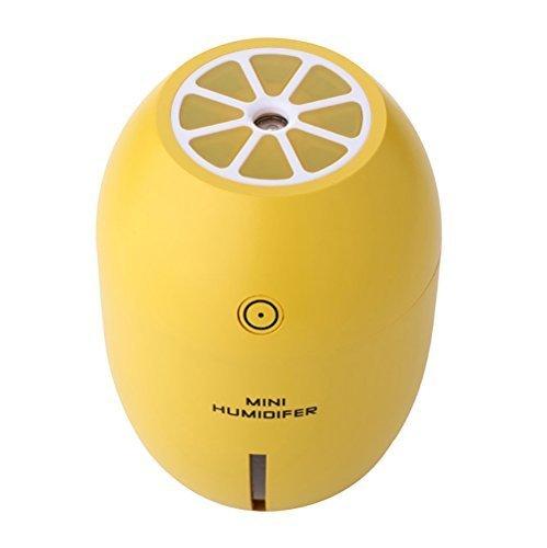 - Yiping Beautiful and Functional Car Humidifier,Lemon Shape Humidifier USB Rechargeable Mini Humidifier(Yellow)