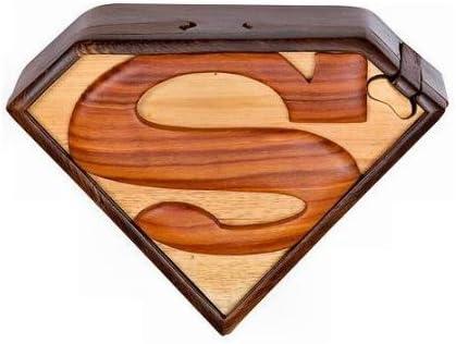 Caja de Rompecabezas de Madera de Superman, Hecha a Mano: Amazon ...