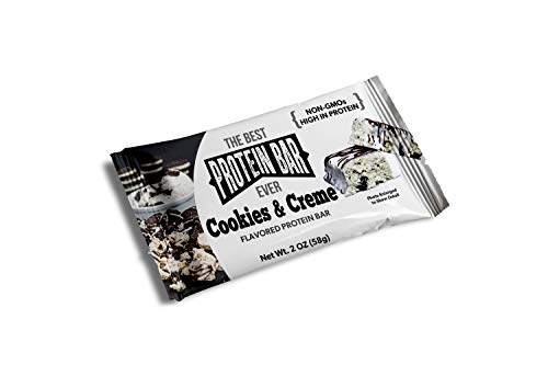 The Best Protein Bar Ever – 10 Bars – Cookies & Creme – Sports Performance Nutrition with Lepticore – 100% Satisfaction Guarantee (1)