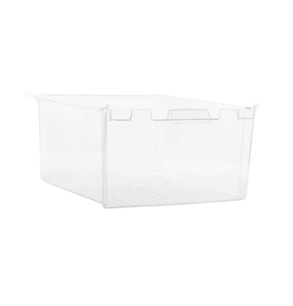Ge WR32X10834 Refrigerator Crisper Drawer Genuine Original Equipment Manufacturer (OEM) Part Clear