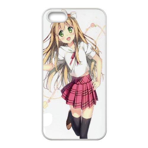 Azusa Azuki coque iPhone 5 5S Housse Blanc téléphone portable couverture de cas coque EBDOBCKCO11322